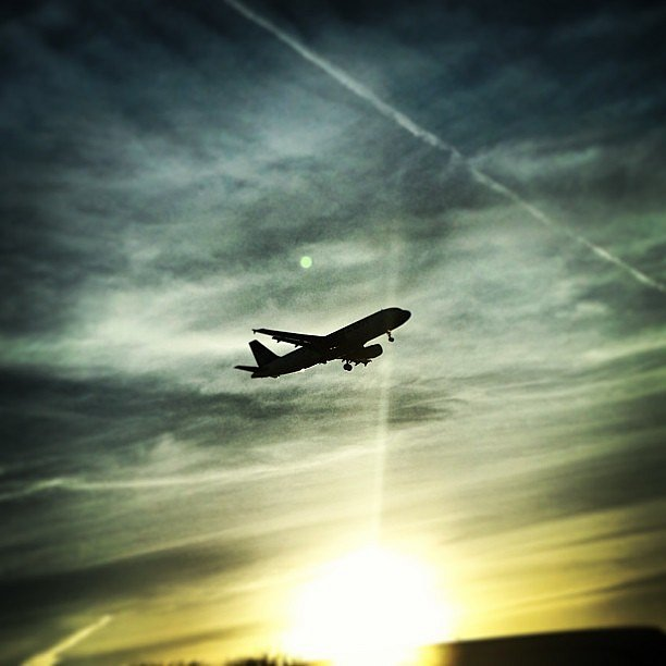 Sunset ride #flight #plane #sky #sun #sunset